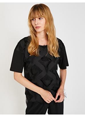 Koton Suni Kürk Detaylı T-Shirt